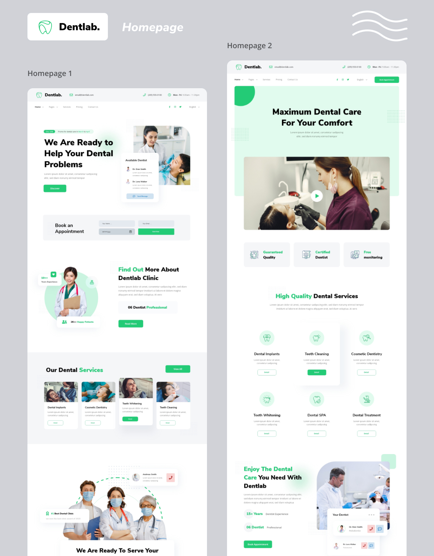 Dentlab - Dentist website template kit - 1