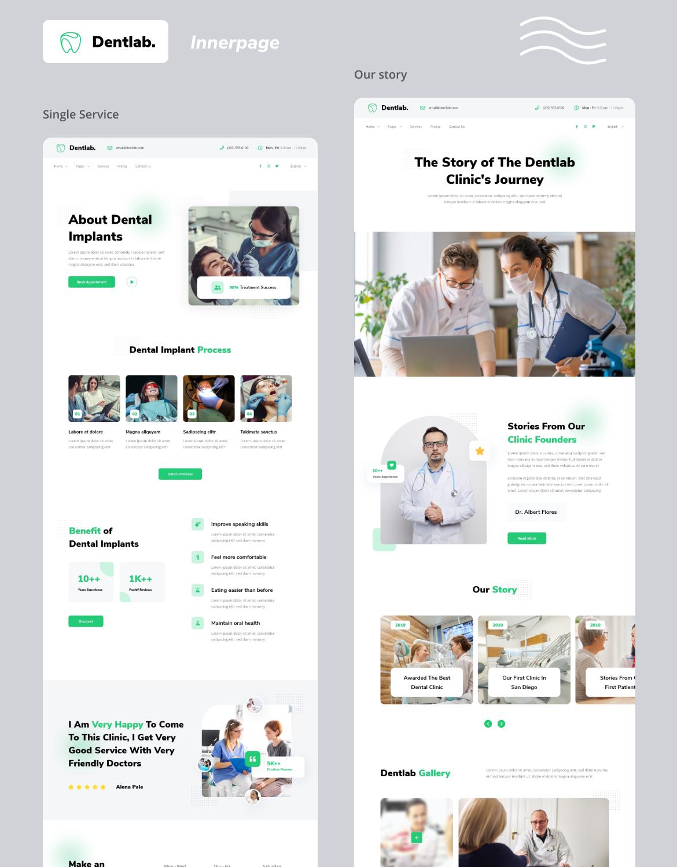 Dentlab - Dentist website template kit - 3