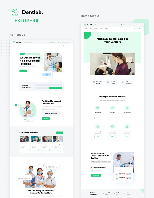 Dentlab   Health & Medical Elementor Template Kit - 1