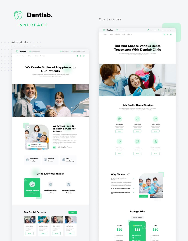 Dentlab   Health & Medical Elementor Template Kit - 2