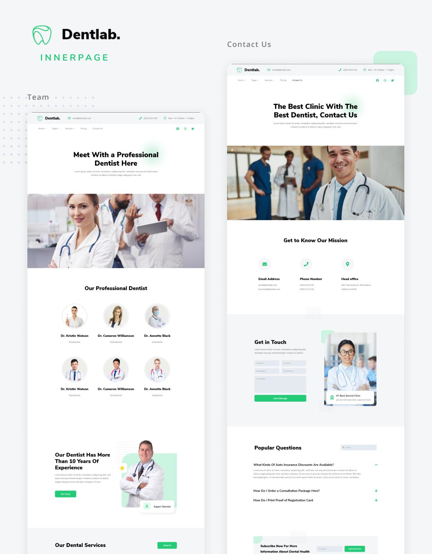 Dentlab   Health & Medical Elementor Template Kit - 4