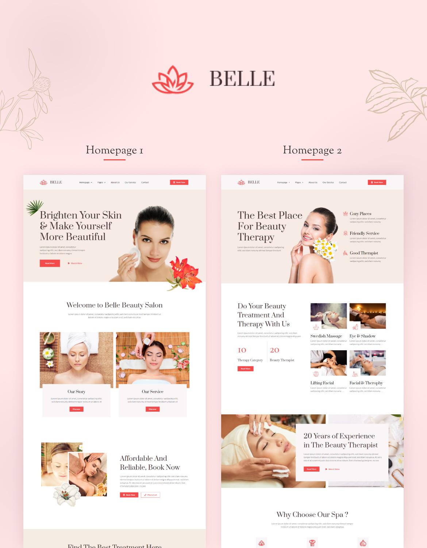 Belle   Beauty Spa Elementor Template Kit - 1
