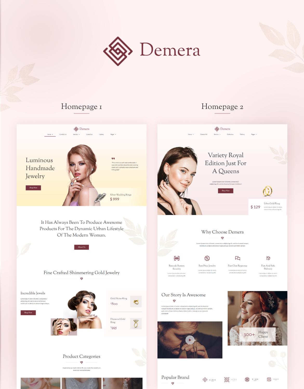 Demera | Jewelry Elementor Template Kit - 1
