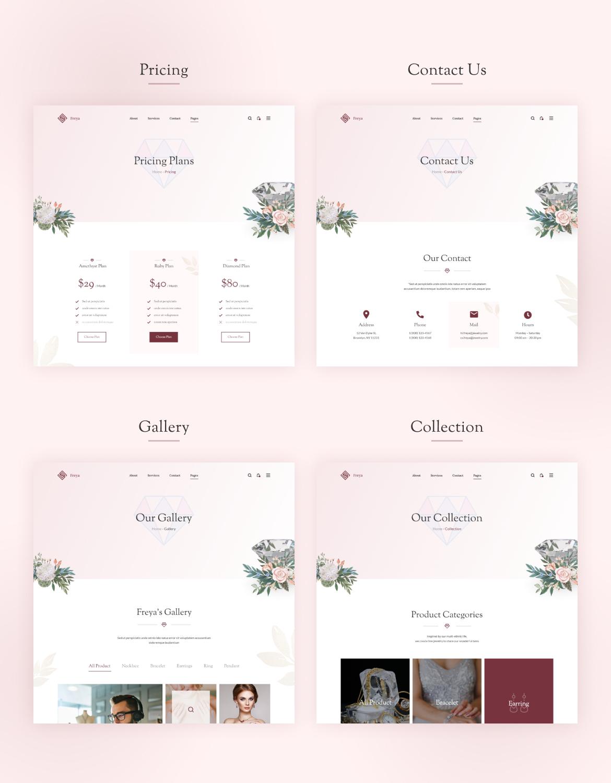 Demera | Jewelry Elementor Template Kit - 3