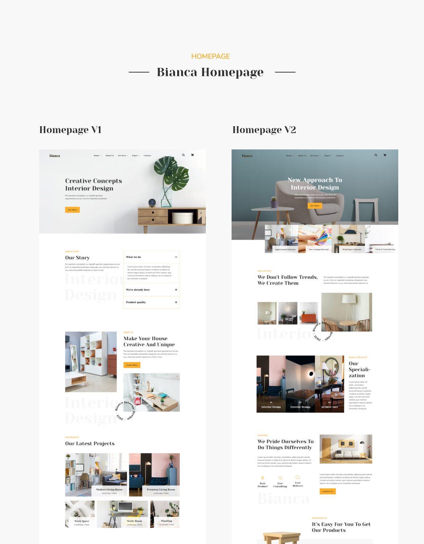 Bianca | Architecture & Interior Elementor Template Kit - 1