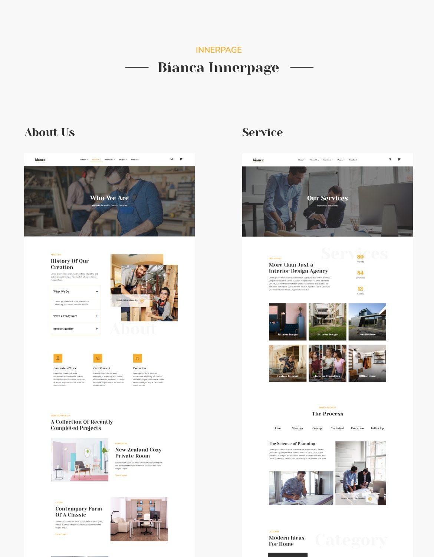 Bianca | Architecture & Interior Elementor Template Kit - 2