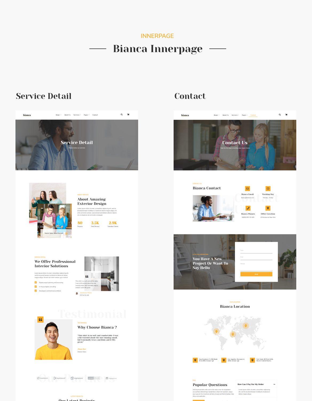 Bianca | Architecture & Interior Elementor Template Kit - 3