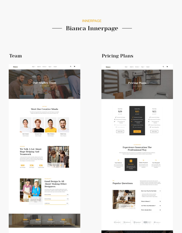 Bianca | Architecture & Interior Elementor Template Kit - 4