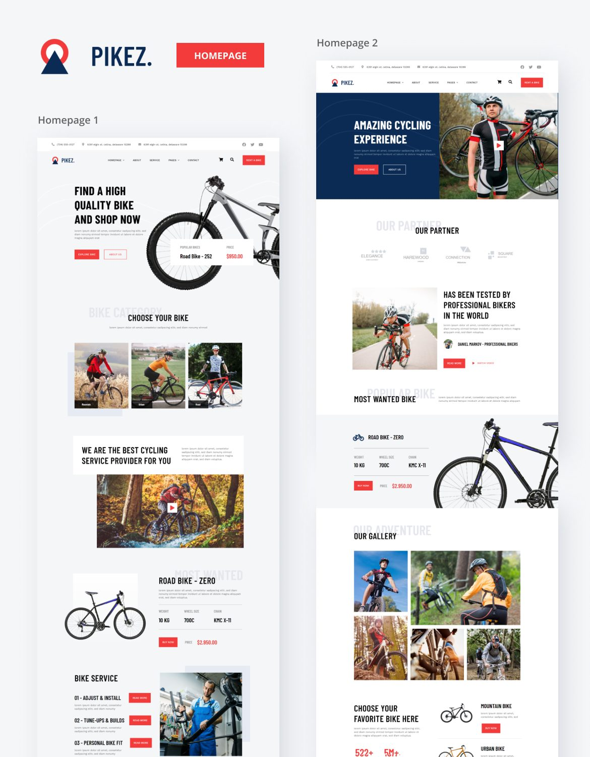 Pikez | Bicycle Store & Company Elementor Template Kit - 1