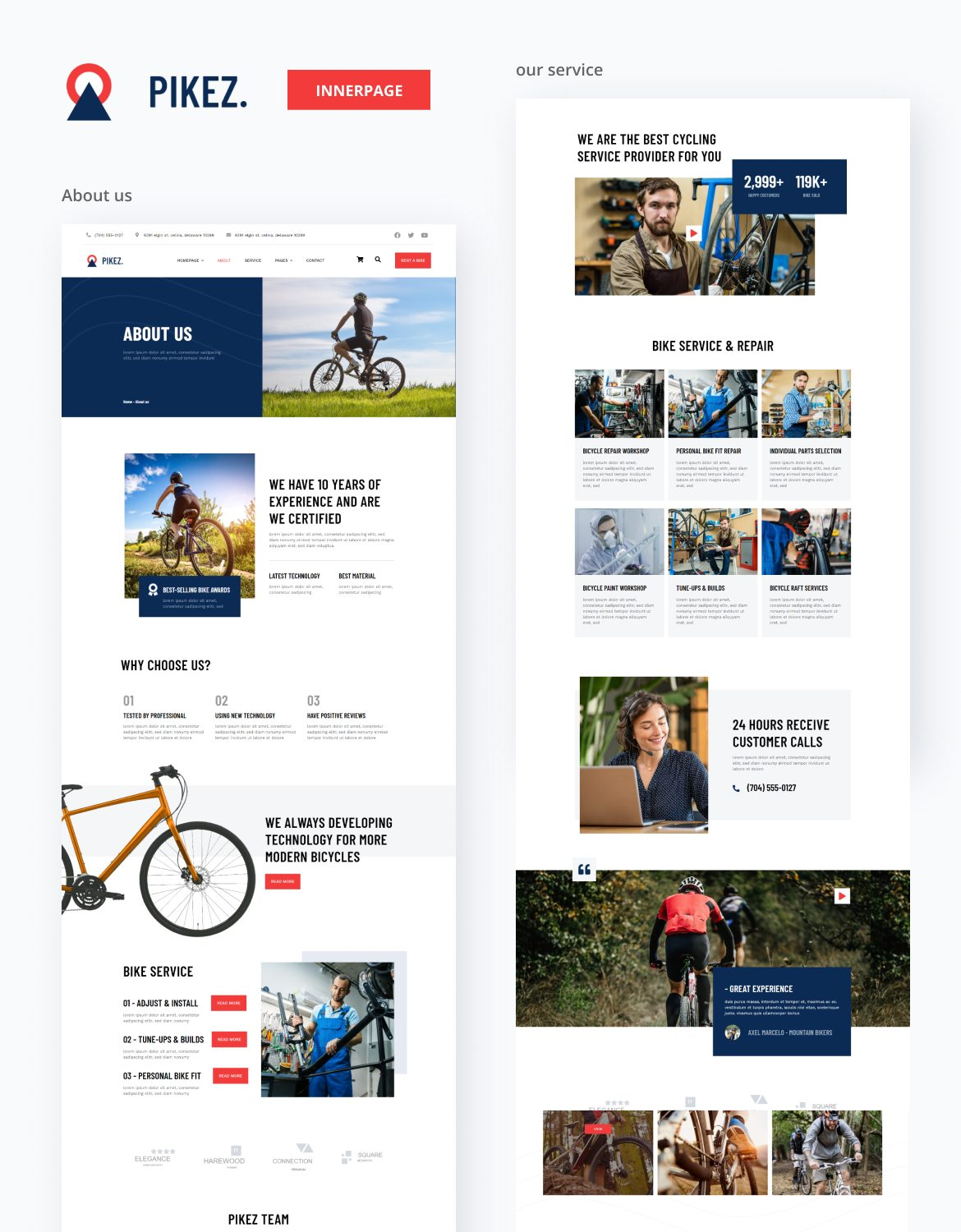 Pikez | Bicycle Store & Company Elementor Template Kit - 2