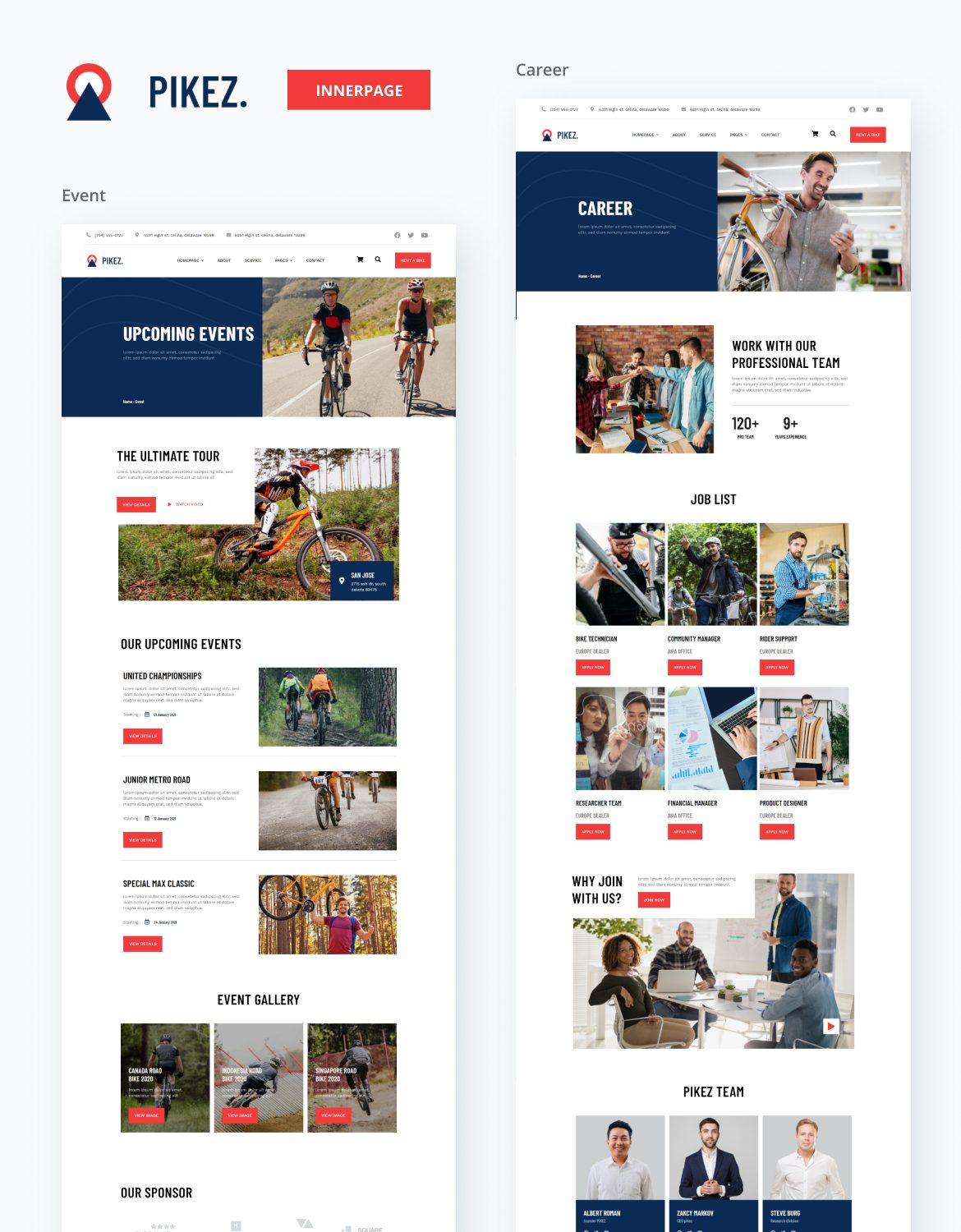 Pikez | Bicycle Store & Company Elementor Template Kit - 3