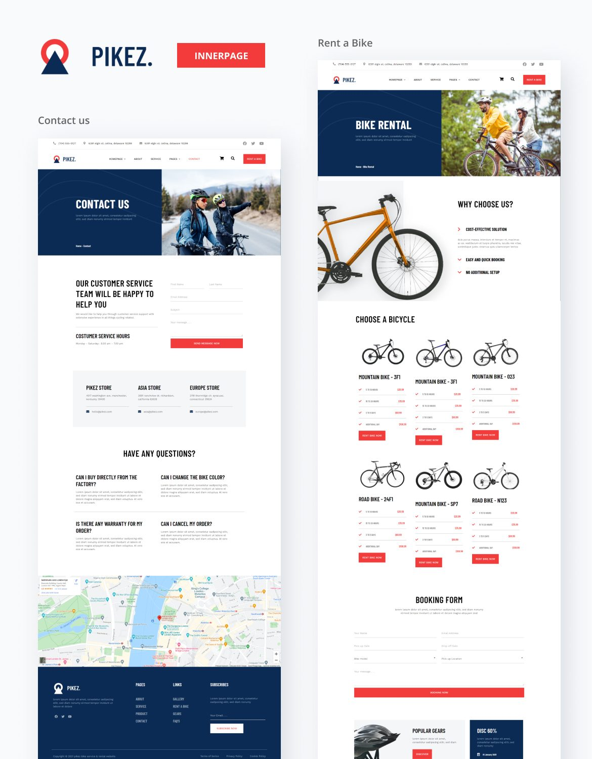 Pikez | Bicycle Store & Company Elementor Template Kit - 4